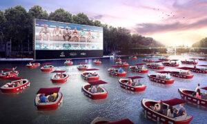 Ο Σηκουάνας μεταμορφώνεται στο πιο ρομαντικό και όμορφο πλωτό, θερινό σινεμά για αυτό το καλοκαίρι