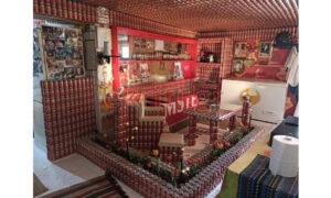 To «καταφύγιο μπίρας» βρίσκεται στην Κρήτη και αποτελείται από 9.270 κουτάκια!