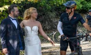 Ο Μητσοτάκης έκανε ποδήλατο και πέτυχε νεόνυμφους: «Παντρευτήκατε;» (pics)