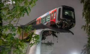 Απίστευτο: Τρένο εκτροχιάστηκε και «προσγειώθηκε» στην ουρά αγάλματος φάλαινας! (pics & vid)