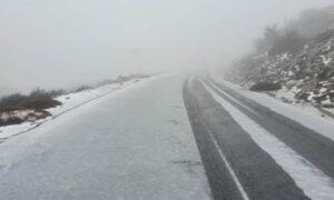 Ο Ψηλορείτης «ντύθηκε στα λευκά» - Έπεσε χιόνι στην Κρήτη