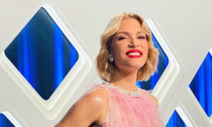 Το ροζ φόρεμα της Βίκυς Καγιά που έκλεψε τις εντυπώσεις στον τελικό του GNTM και θύμισε το σέξι φόρεμα της Γαρμπή στη Eurovision