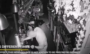 Κλέφτης μπήκε σε κλειστό μπαρ, τα ήπιε, έκανε ζημιές και τελικά τον πήρε ο ύπνος (vid)