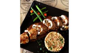 """Ψαρονέφρι γεμιστό με πιπεράτη σάλτσα από το Chef """"Βενέδικτο"""" του κρεοπωλείου Μπούρμπος"""