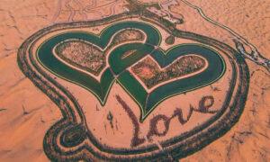 Οι ασυνήθιστες λίμνες που ξεφυτρώνουν στην έρημο του Ντουμπάι - Μια σε σχήμα καρδιάς, άλλη σαν φεγγάρι (pics)