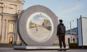 Η φουτουριστική «πύλη» που ενώνει δύο πόλεις, μία στη Λιθουανία με μία στην Πολωνία - Αν και απέχουν 424 χλμ [εικόνες & βίντεο]
